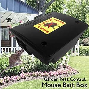 BuyYourWish - Herramienta de control de plagas de plástico con cerradura para ratón, roedor, cebo de veneno con llave