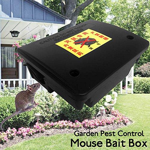LEEPRA Garden Pest Control Tool Lockable Mouse Rodent Plastic Poison Bait Box With Key by LEEPRA