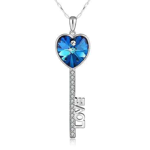 Amazon silver heart key necklace plato h heart lock pendant silver heart key necklace plato h heart lock pendant neckalce 925 sterling silver key to my aloadofball Gallery