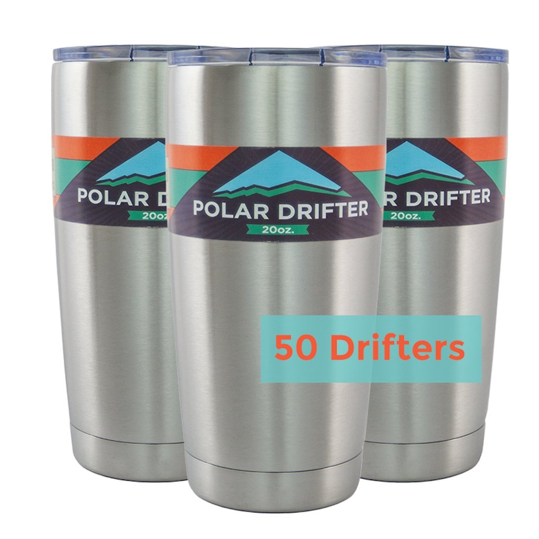 Polar Drifter Vacuum Insulated Stainless Steel Tumbler, 20 oz, Case of 50