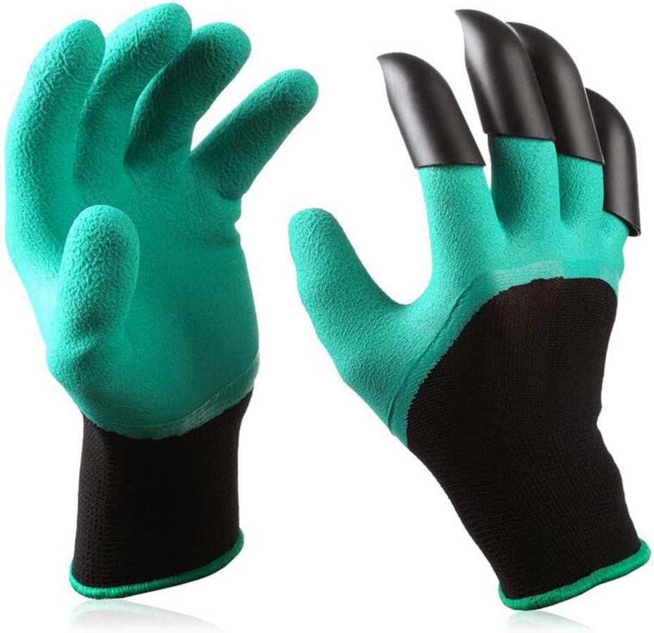 Garden Genie Gloves with Claws, Green Waterproof Garden Gloves For Digging Planting, Best Gardening Gloves for Gardener