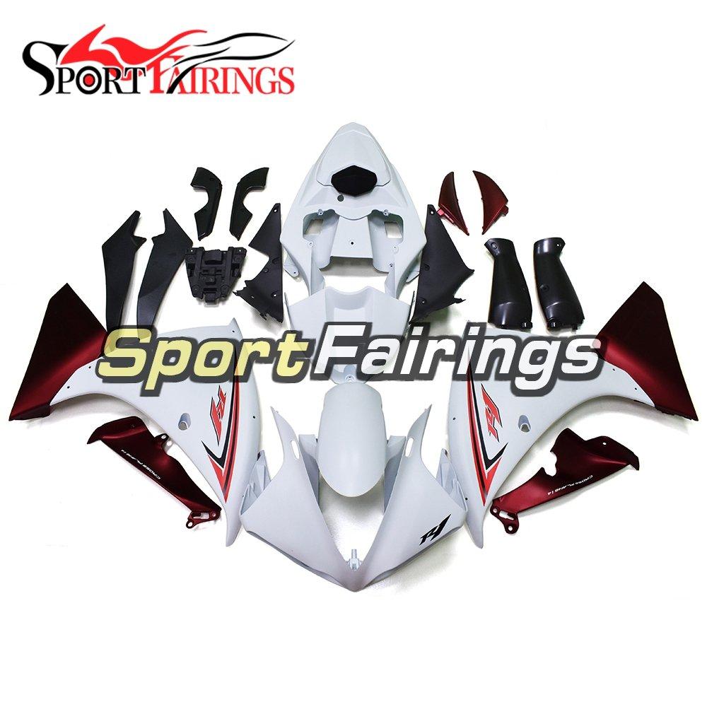 Sportfairings フェアリングキットプラスチック射出 ABS ヤマハ YZF1000 R1 年 2009 2010 2011 09 - 11 オートバイレッドホワイトブラックグリーンボディカバー   B07BNJPLZ3