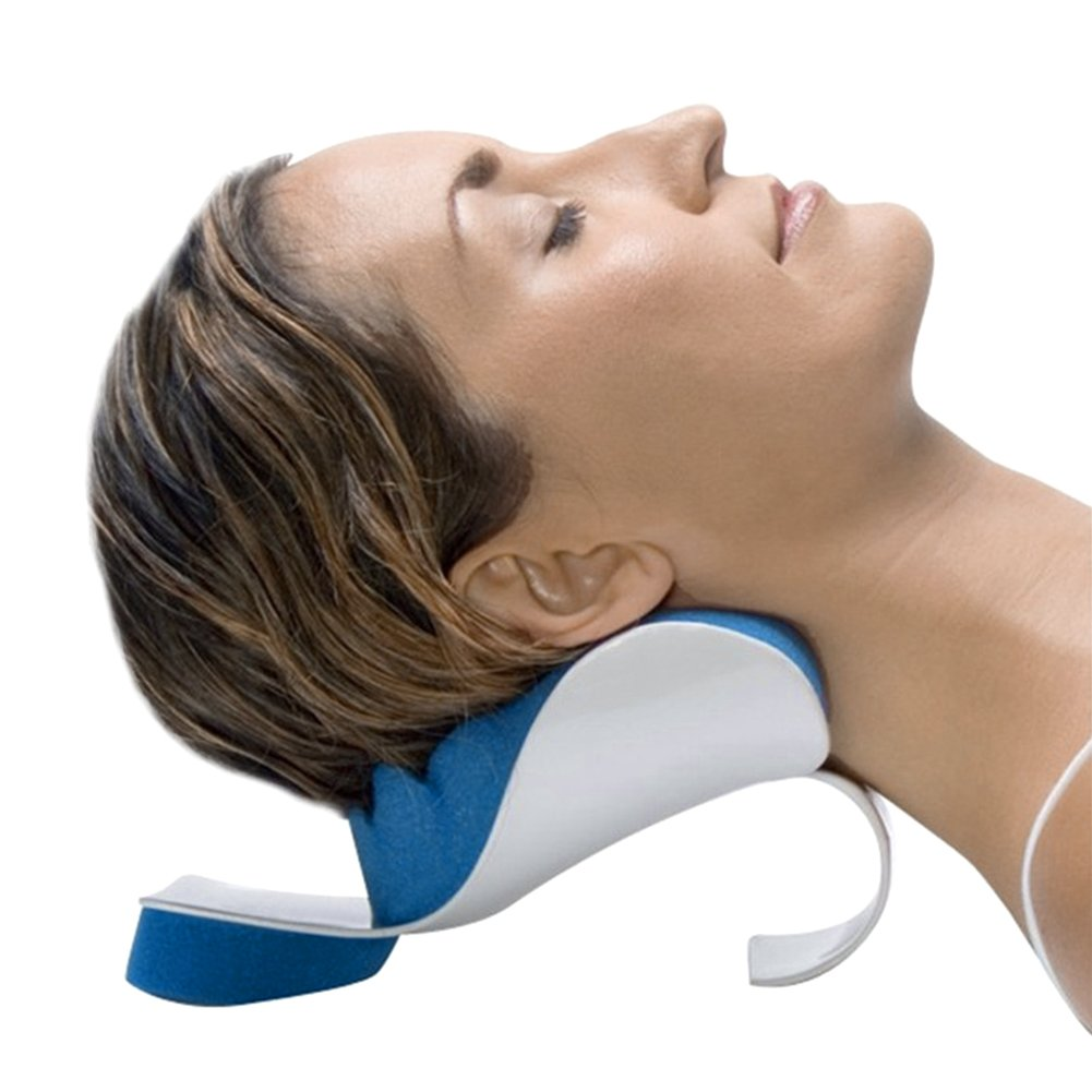Neck And Shoulder Relaxer Pain Relief Support Pillow Relaxation Device Memory Sponge Head Tension Release Relaxing High Quality Elastic Cervical Great For Reading Watching Tv Soft Cove Driving Travel Business-Office Household Massage Traction Bath Spa Com