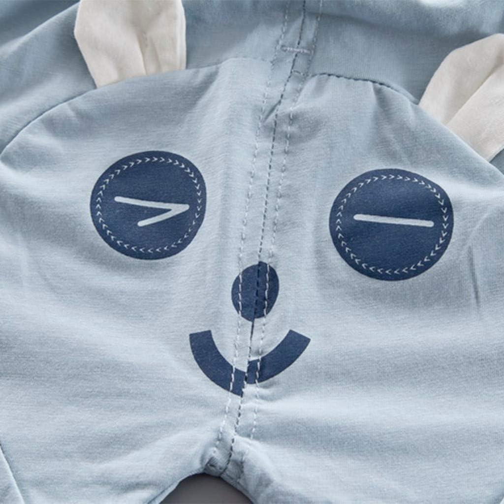Shorts Neugeborenes Baby Kinder Schlichtes Kleidungset Zweiteiliges BeautyTop ❤v Toddler Kinder Sommer Karikatur Sch/öne Outfits Set 2Pcs Baby M/ädchen Jungen Rundhals Gemustert Drucken Tops