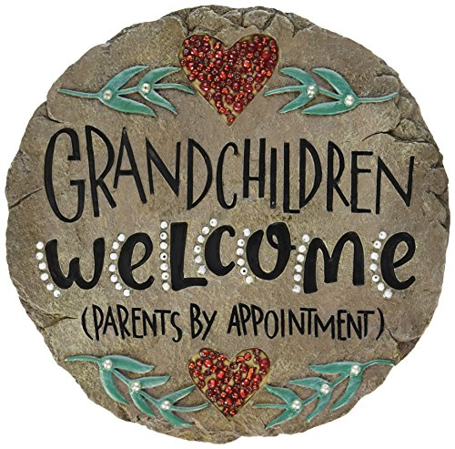 Carson Home Accents Beadworks Grandchildren Welcome Garden Stone -