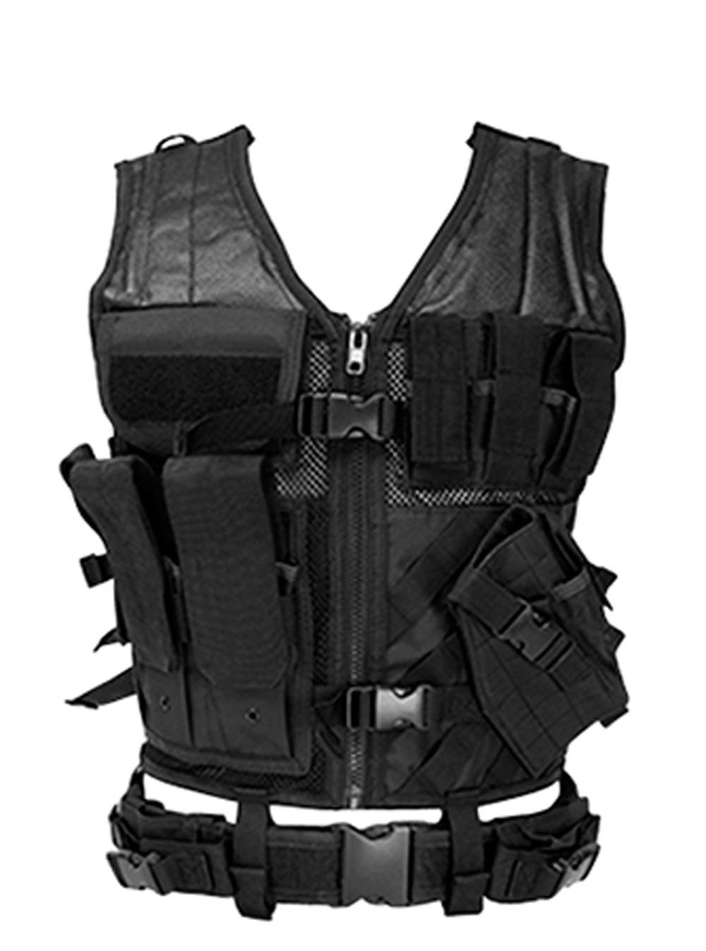NCStar Tactical Vest Black XL-XXL, Adjustable Black