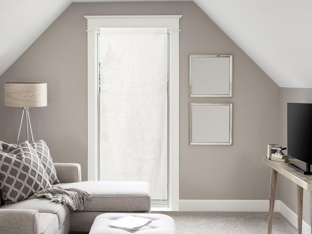 Soleil d'ocre Visillo para Puerta acristalada de algodón 70x200 cm Panama Crudo