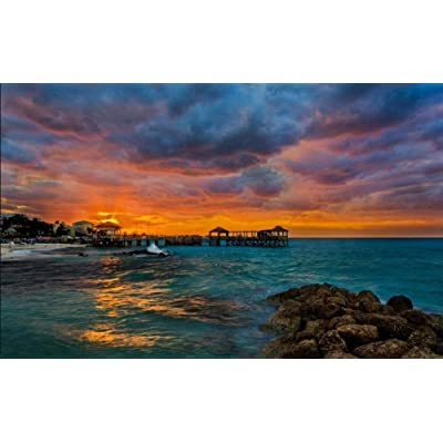 NA Jigsaw Puzzle for Adults 1000 Piece - Beautiful Romantic Scenery of The Ocean - DIY Set Unique Gift Home Decor Adult Children's Educational Toys: Toys & Games