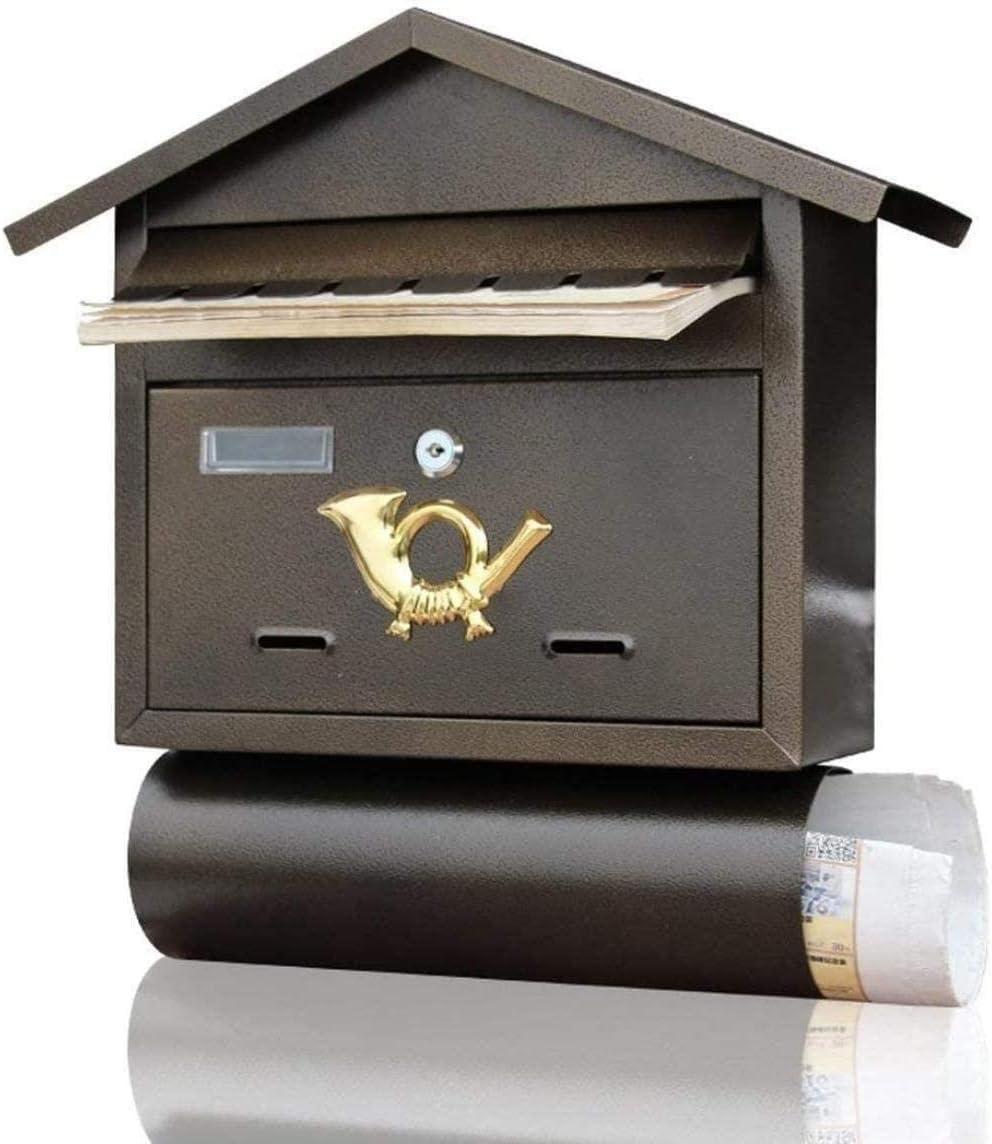 Buzones Hierro Forjado montado en la Pared de periódicos sugerencias Box Cafe Retro Pared Mensaje Seguridad