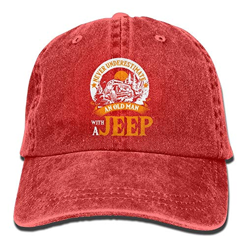 an Old Man A Jeep T Shirt Denim Caps Dad Baseball Hats Women&Men
