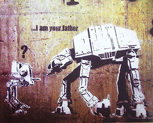 Robots by Banksy Urban Star Wars Graffiti Print Poster