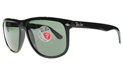 Ray-Ban RB4147 601/58 60mm Polarized Sunglasses Shiny Black /Crystal Green Made
