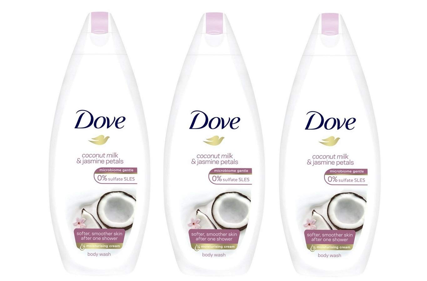 Dove Purely Pampering Coconut Milk With Jasmine Petals Body Wash 500ml 16 9oz 3 Pack Buy Online In Kuwait Unknown Products In Kuwait See Prices Reviews And Free Delivery Over Kd 20 000 Desertcart