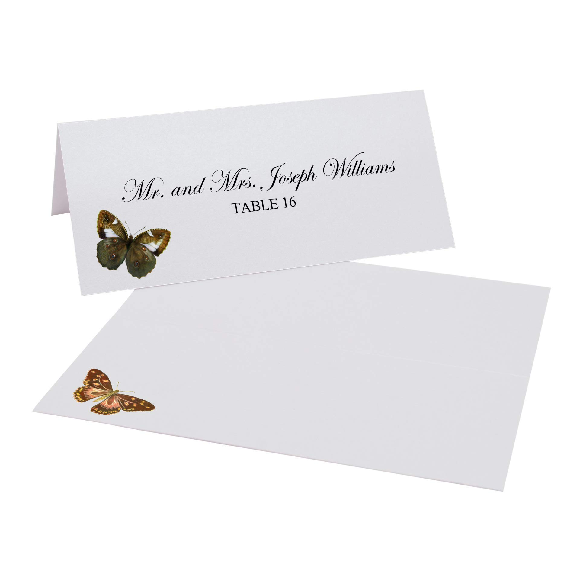Documents and Designs Assorted Butterflies Place Cards, Set of 150