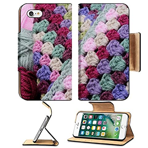Luxlady Premium Apple iPhone 7 Flip Pu Leather Wallet Case iPhone7 IMAGE ID: 22612995 Balls of wool and crochet blanket skeins of yarn in pink and - Crochet Shell Afghan