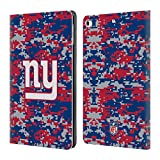 Official NFL Digital Camouflage 2018/19 New York Giants Leather Book Wallet Case Cover for iPad 9.7 2017 / iPad 9.7 2018