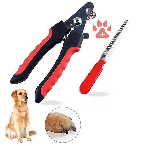 Cumay Cortaúñas Mascota para Gato/Perros Pequeño, Mediano y Grande y con Lima de