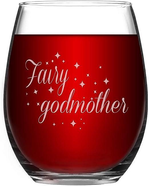 Amazon.com: Vaso de vino divertido sin tallo de Hada para ...