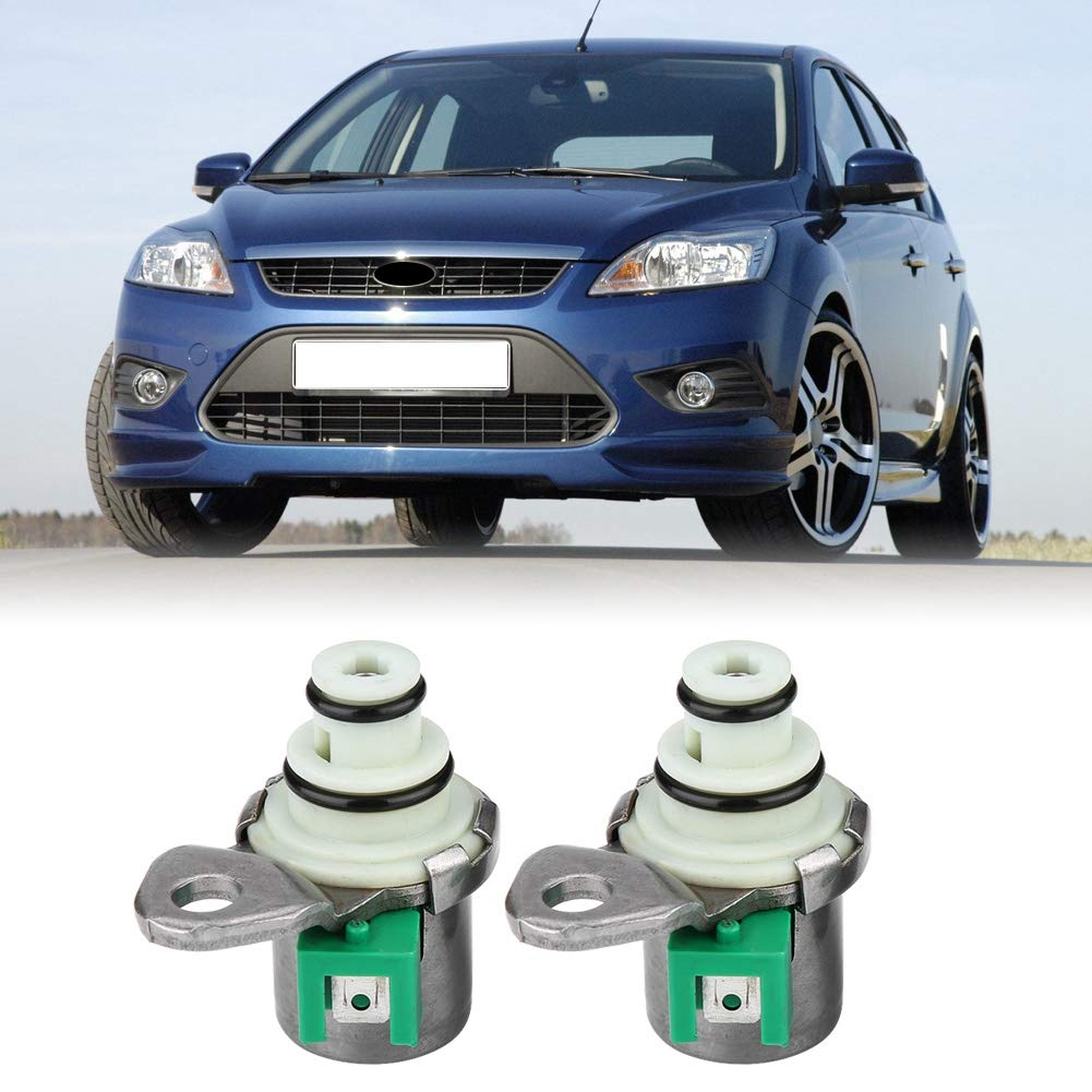 Qiilu Car Transmission Shift Solenoid Set XS4Z-7H148A for Ford 2000-2008 3 5 6 Protege OE XS4Z-7H148A