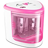 Oureili Battery Operated Electric Pencil Sharpener Colored Pencils Sharpener automatic pencil cutter for kids, adults, artists, or sharpeners for pencils, office professional pencil sharpener (Pink)