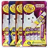 #1: INABA CIAO CHURU Stick Cat Lickable Puree Creamy Cat Treat, Original Japan Cat Snacks 4 Pack 16Pcs X 15g (Variety)