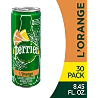 Perrier L'Orange Flavored Carbonated Mineral Water (Lemon Orange Flavor), Slim Cans, 8.45 Fl Oz (Pack of 30)