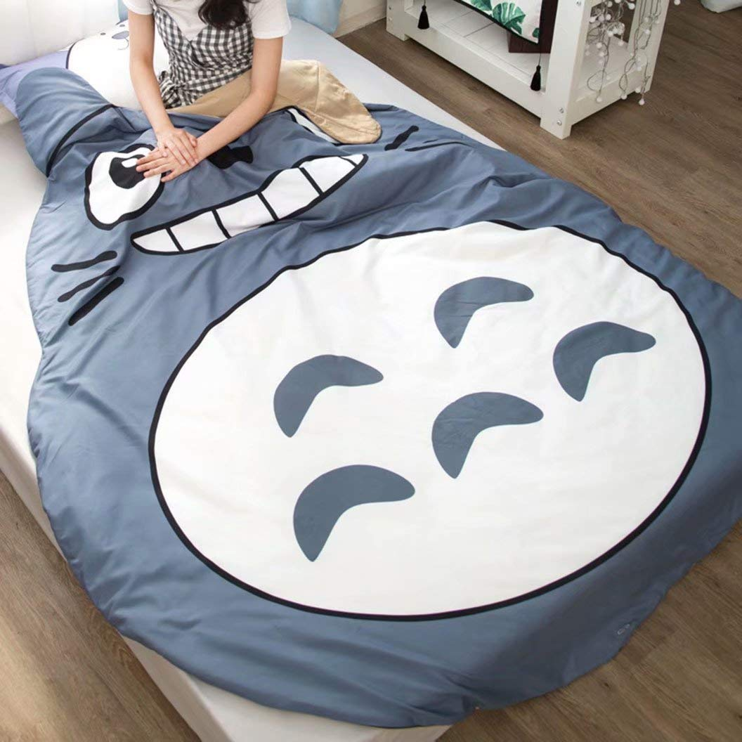 FJMM Anime Thin Quilts Totoro Throw Blanket 3D Print Cute Bedding Comforter Light Quilt Washable by FJMM