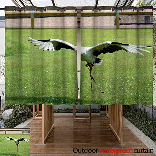 WinfreyDecor Outdoor Balcony Privacy Curtain Palm Nut Vulture W84 x ()