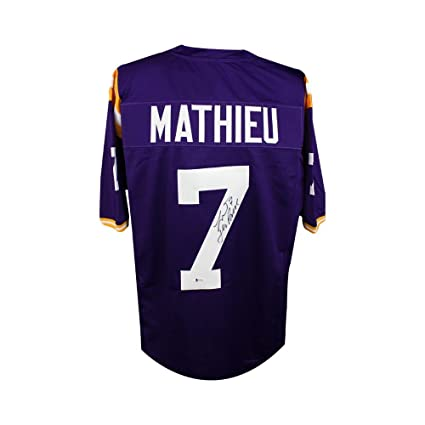 f20553e58 Tyrann Mathieu Autographed LSU Tigers Custom Purple Football Jersey - BAS  COA at Amazon's Sports Collectibles Store
