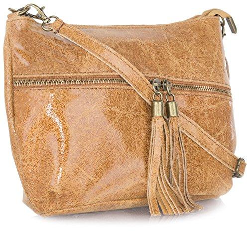 hombro borla Shop gamuza decorativa Big con mujer suave para Marrón Handbag de Bolso Claro de PZIZ8