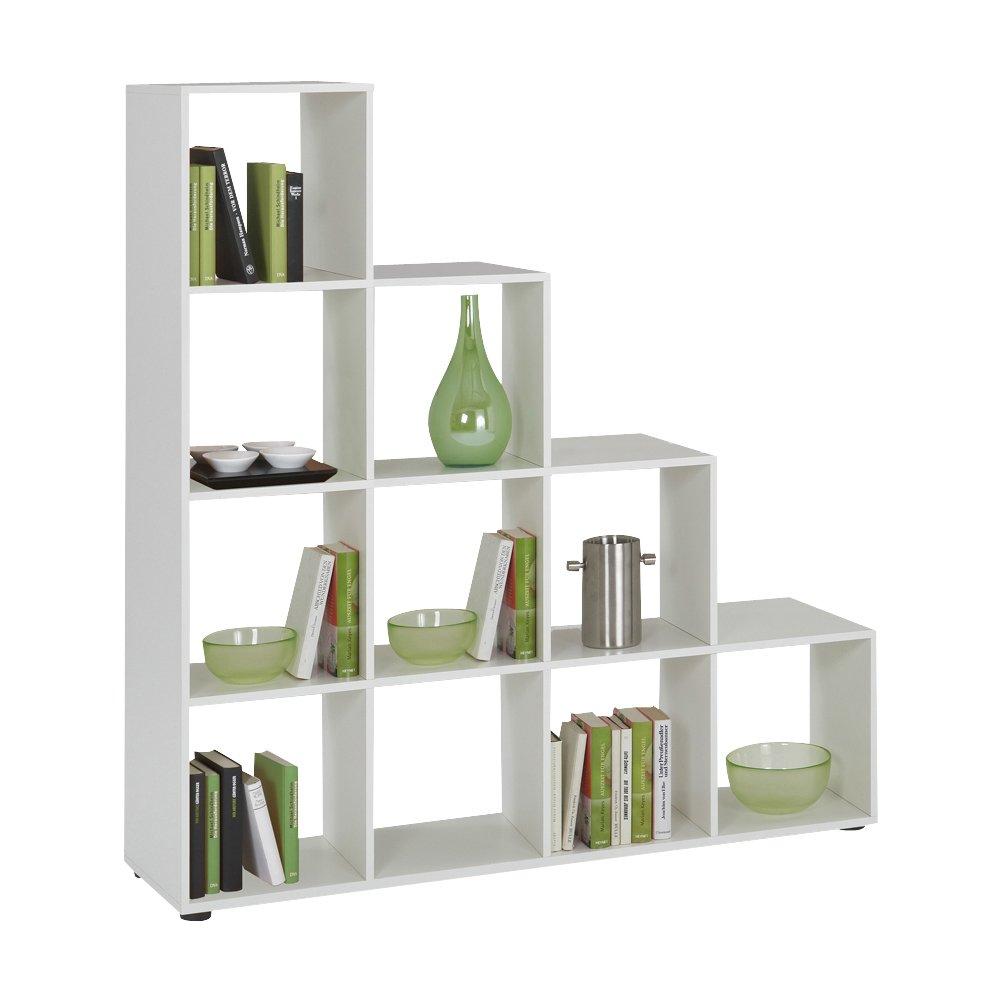 FMD Bookcase Mega 2, 138.5 x 143.5 x 33.0 cm, White FMD Möbel 248-002_we