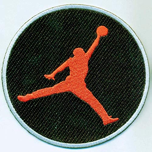 LARGE JUMPMAN AIR JORDAN IRON ON EMBROIDERED patches patch MICHAEL AIR JORDAN SHOES BASKETBALL HOOPS