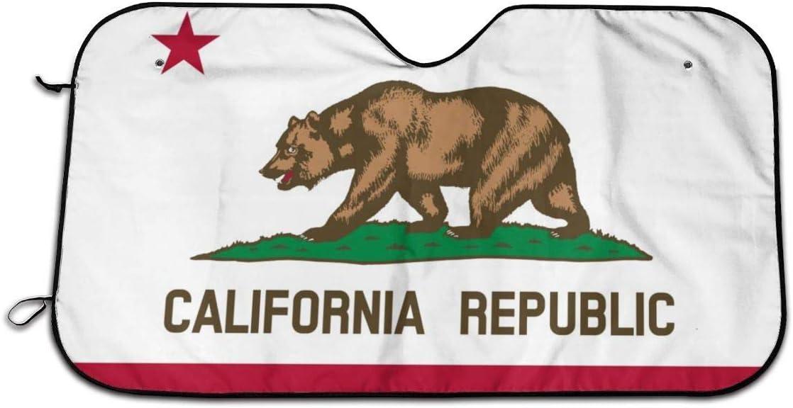 Parasole per Auto Parasole per la Parabrezza Anteriore California Republic 70 130cm MOLLUDY Parasole per Parabrezza