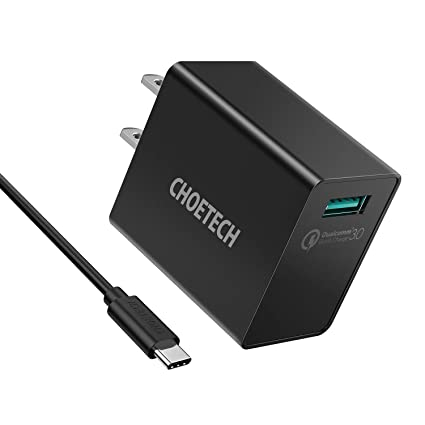 brand new 9fb33 40c8a CHOETECH Quick Charge 3.0, 18W USB Wall Charger (Quick Charge 2.0  Compatible) for iPhone X / 8 / 8Plus, Samsung Galaxy S9 / S9+ / Note 8/S8/  S7/S7 ...