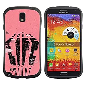 Be-Star Colorful Printed Design Anti-Shock Iface First Class Tpu Case Bumper Cover For SAMSUNG Galaxy Note 3 III / N9000 / N9005 N9000 N9002 N9005 ( life giant sonic pink text poster art ) Kimberly Kurzendoerfer