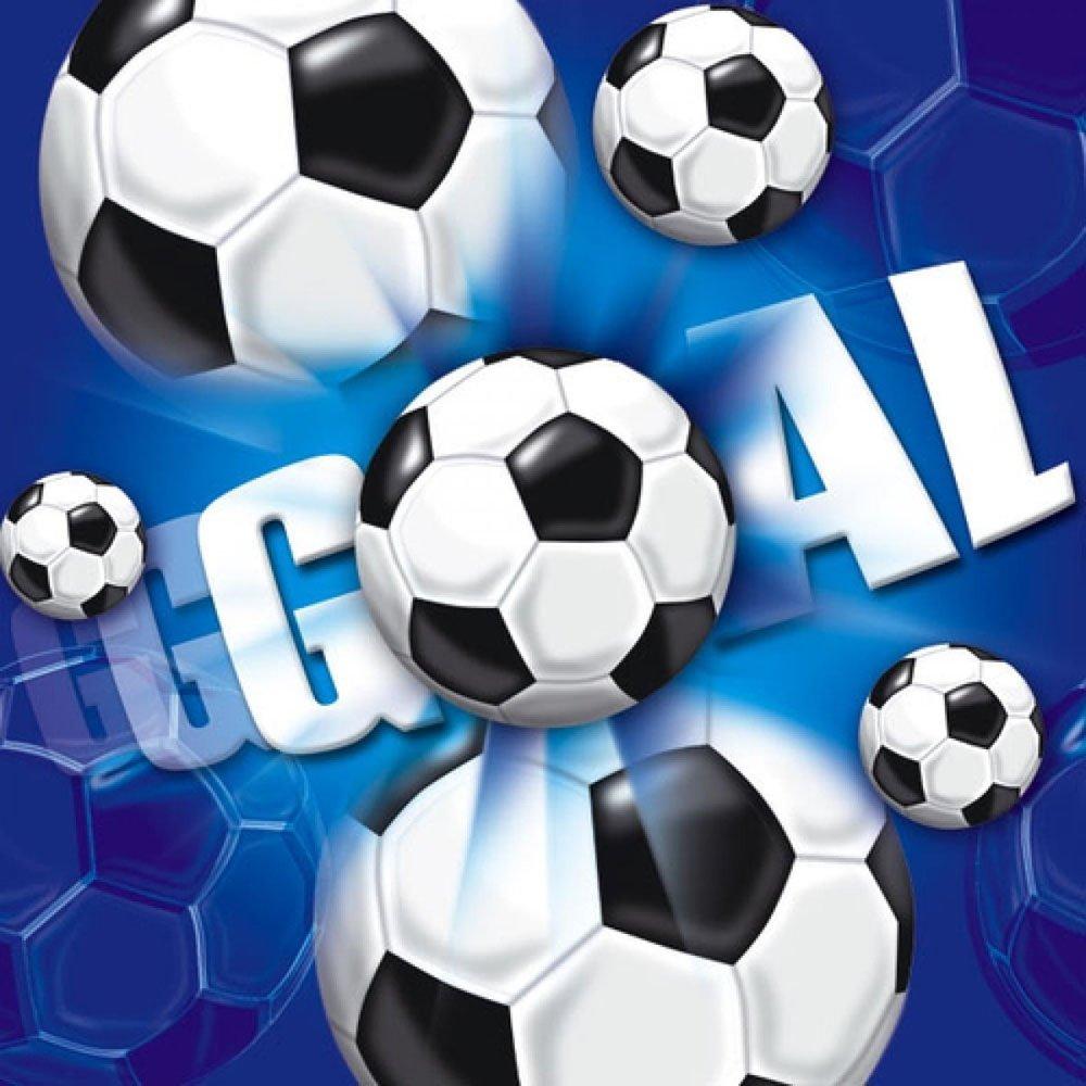Hoffmann 9632 JT Serviette Football 33 x 33 cm, Blue (Pack of 20)