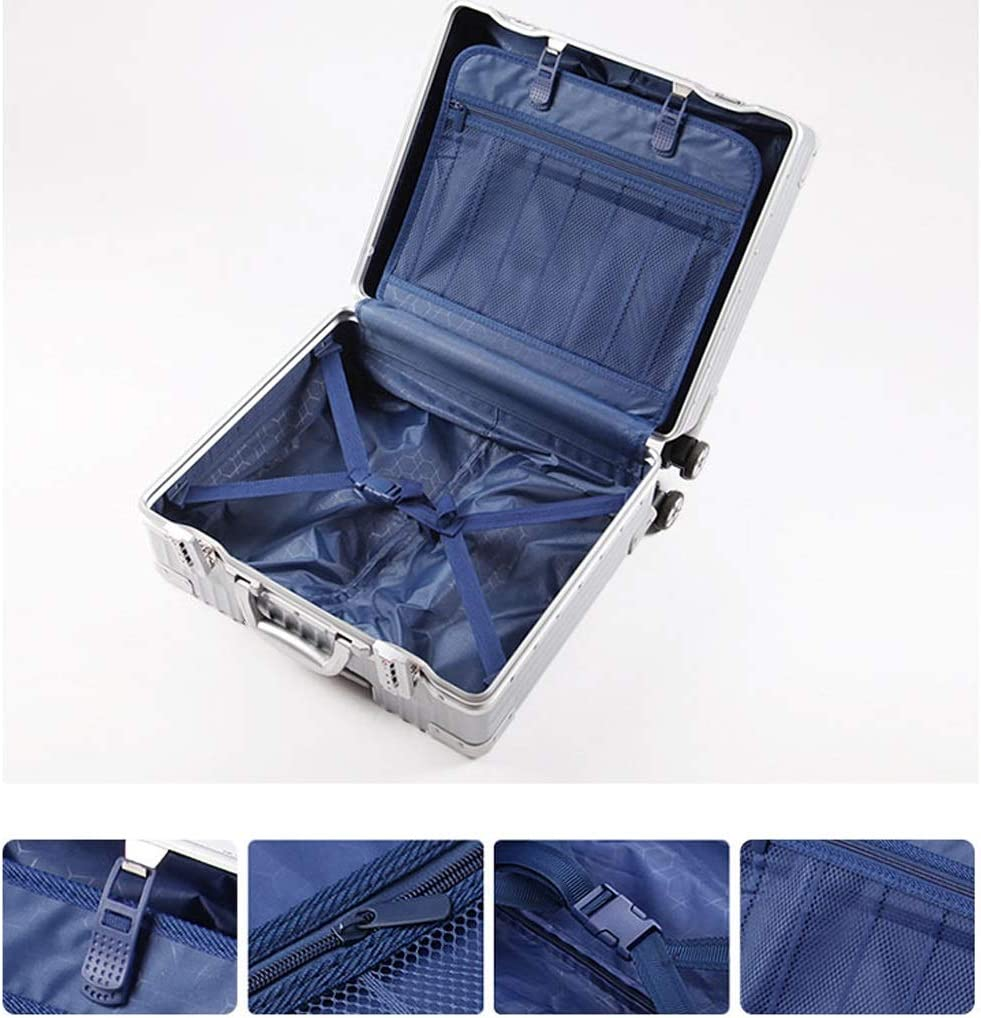 Color : Green Minmin Lightweight Executive Hand Luggage Trolley Case Small Travel Suitcase on Wheels,18inch