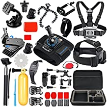 SmilePowo Sports Action Camera Accessory Kit for GoPro Hero6,5 Black, Hero 5,4,3,2,1,Session,GoPro Fusion,DBPOWER,AKASO,APEMAN,SJ CAM,XIAO YI,2,Sony,Sports Camera