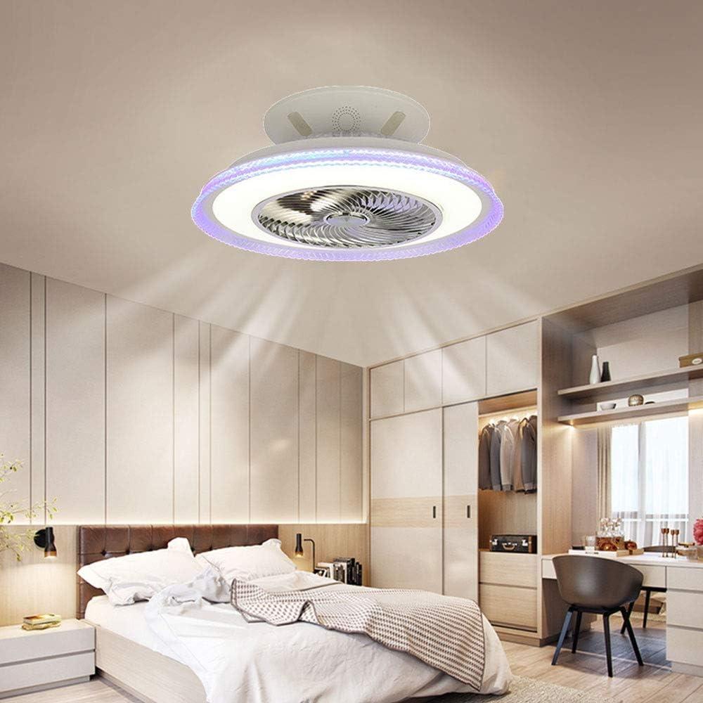 Modernas LED Ventilador De Techo remota Regulable con Altavoz Bluetooth M/úsica para Techo L/ámpara de Techo Iluminaci/ón interior silencioso Ventilador Ventilador de techo L/ámpara de techo