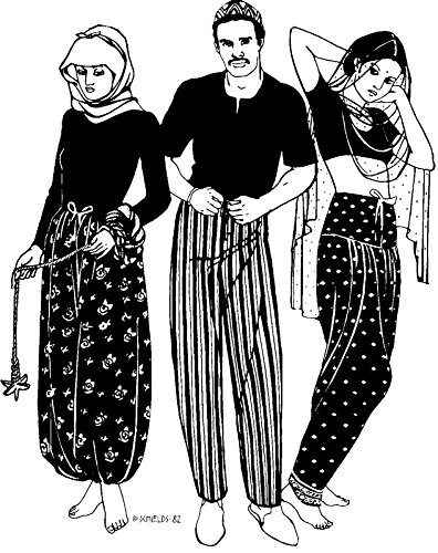 - Folkwear Sarouelles Pants #119 Turkish African Indian Pants Trousers Historical Traditional Sewing Pattern (Pattern Only) folkwear119