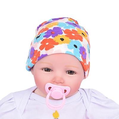 Sunward TM Newborn Hospital Hat With Flower Bowknot