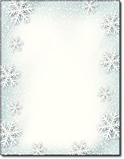 amazon com blue snowflakes holiday stationery 80 sheets office