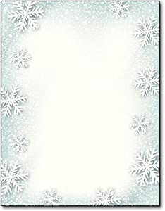 Paper Snowflakes Holiday Stationery - 80 Sheets