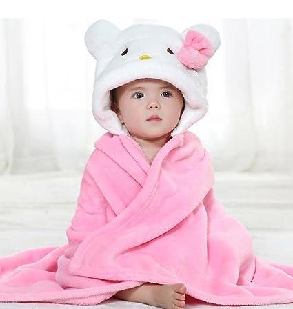 gryiyi Unisex con capucha bebé toalla de baño con diseño de animal face para recién nacidos