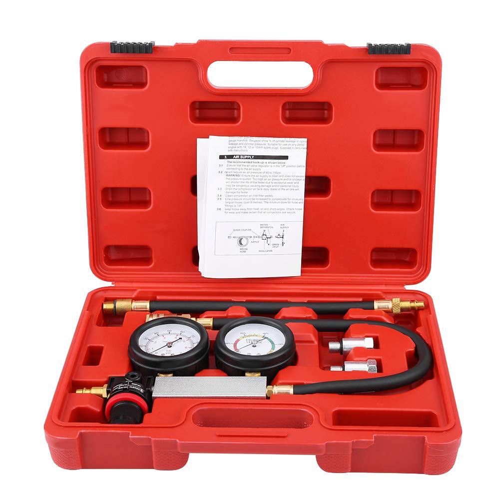 Zerone Leak Tester 4Pcs Cylinder Leak Tester Petrol Engine Compression Leakage Leakdown Detector TU-21