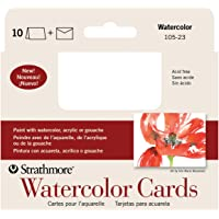 Strathmore 105-23 Watercolor Cards, Announcement Size, Cold Press, 10 Cards & Envelopes