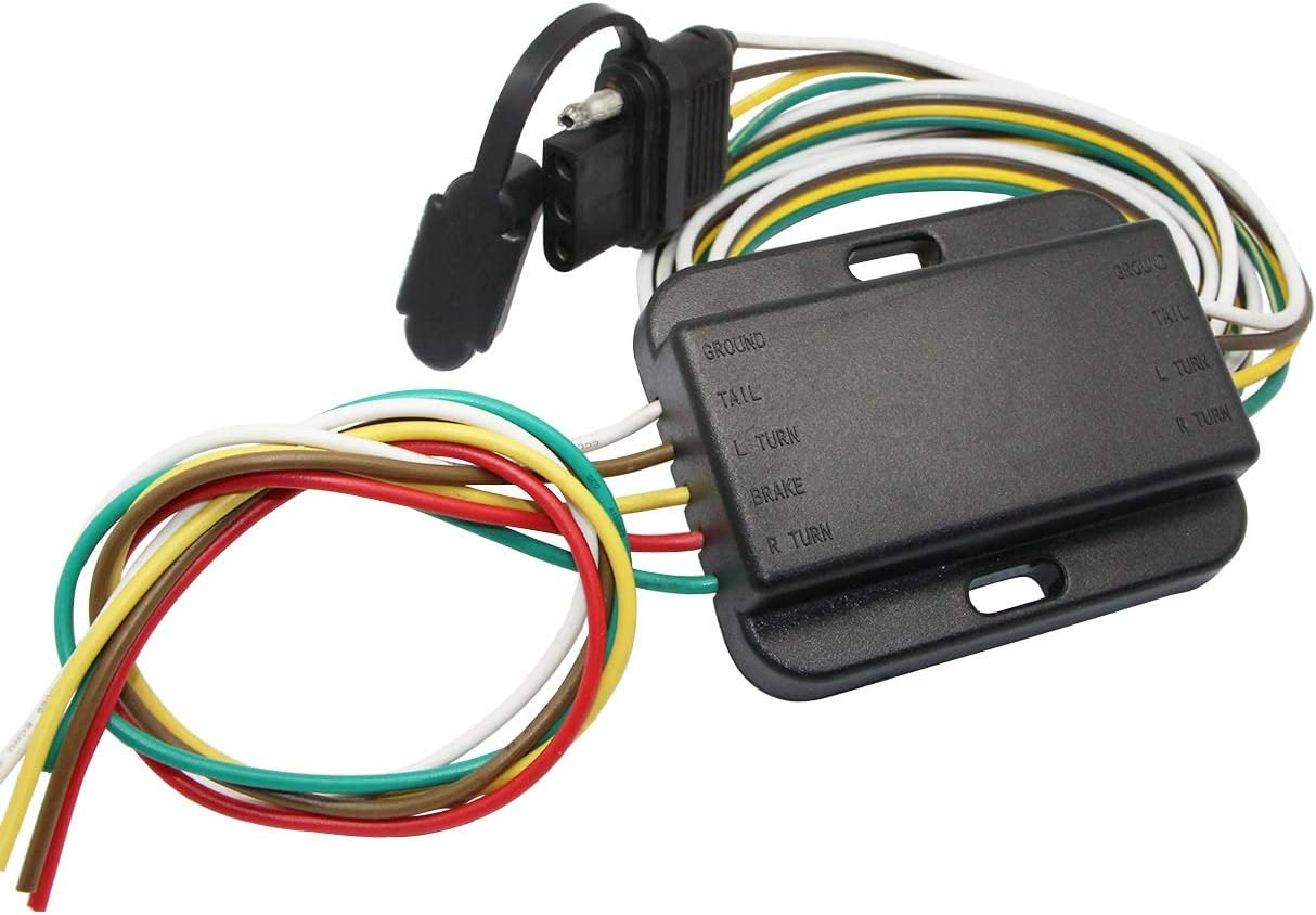 Amazon.com: NEW SUN 3 Way to 2 Way Trailer Taillight Converter with  Standard 4-Way Flat Wire Harness Connectors,Weatherproof: AutomotiveAmazon.com