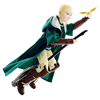 "HARRY POTTER Draco Malfoy Quidditch Uniform Doll 10"" with Snitch: Toys & Games"