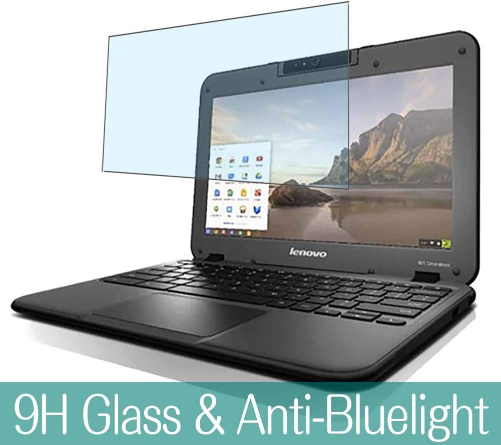 """Synvy Anti Blue Light Tempered Glass Screen Protector for Lenovo N21 CHROMEBOOK 11.6"""" Visible Area 9H Protective Screen Film Protectors"""