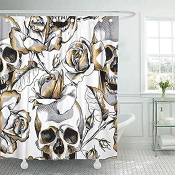 Amazon.com: Ambesonne Home cortina de ducha con ganchos ...